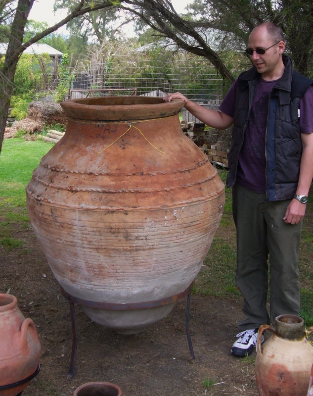 en 11 1 H  130 cm x W  110 cm approx     3 500   1 only. Ottoman Imports   Turkish Delights    Terracotta vintage Pots from